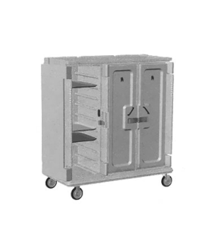 "Meal Delivery Cart, tall profile, 3 doors, 3 compartments, holds (30) 14"" x 18"""