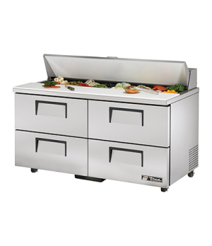"ADA Compliant Sandwich/Salad Unit, (16) 1/6 size (4""D) poly pans, stainless stee"