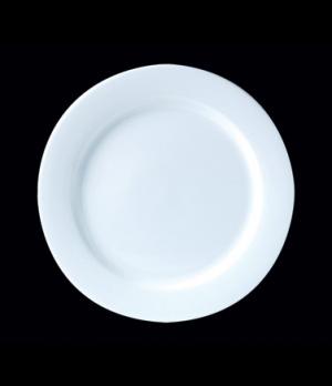 "Plate, 8"" dia., round, Distinction, Monaco, Monaco White (Canada stock item) (mi"