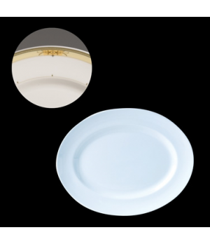"Plate, 13"", oval, Vogue, Fernoir (Special Order) (minimum = case quantity)"