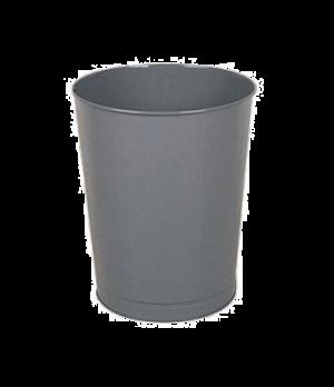 "Steel Wastebasket, 15-3/4"" dia. x 18"" H, 44 quart capacity, open top, gray, UL,"