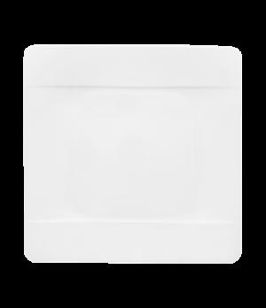 "Plate, 10-1/2"" x 10-1/2"", square, premium bone porcelain, Modern Grace"