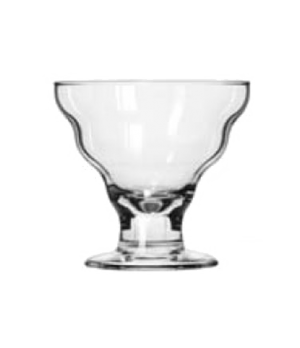 "Splash Dessert Glass, 12 oz., Safedge® Rim & foot (H 4-1/8""; T 4-3/8""; B 3""; D 4"