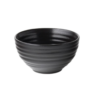 "Rice Bowl, 8.5 oz (251mL), 3.89"" diameter, round, embossed, vitrified ceramic, e"