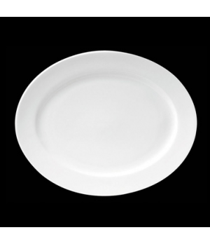 "Platter, 13-3/4"" X 11"", oval, porcelain, Tria, Simple Plus (minimum = case quant"