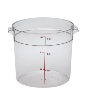 Camwear® Round Storage Container, 6 qt., withstands temperature of -40 to 210° F