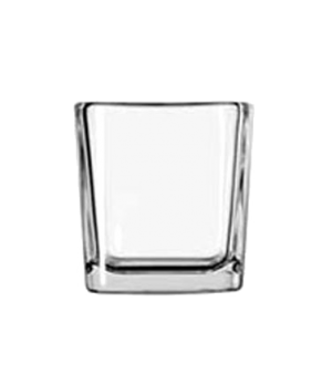"Voltive/Candle Holder, 7-1/2 oz., cube, glass, clear (H 3-1/8""; T 2-7/8""; B 2-1/"