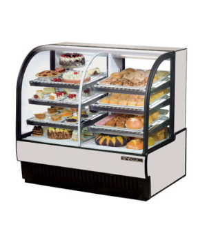 Curved Glass Dry/Refrigerated Bakery Case, dry/refrigerated, self-contained, 50-