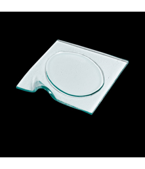 "Platter, 6-3/4"", square with oval well, clear, Creations (USA stock item) (minim"
