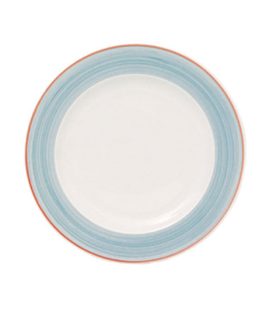 "Plate, 10"" (25 cm), round, wide rim, scratch resistant, oven & microwave safe, d"
