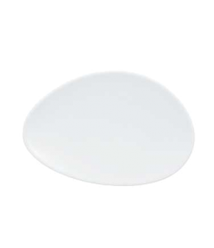 "Plate, 5-7/8"" x 3-7/8"", flat, oval, premium porcelain, Marchesi"