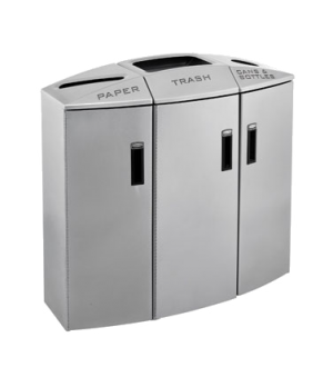 Element Paper/Trash/Cans & Bottles Recycling Container, 3 stream, 44 gallons, lo