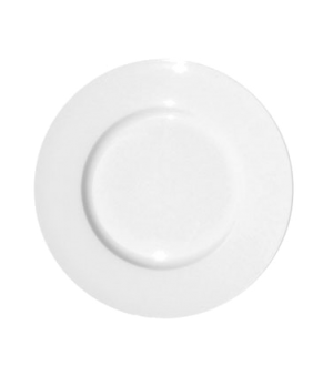 "Plate, 10"" (25 cm), round, wide rim, fine bone china, William"