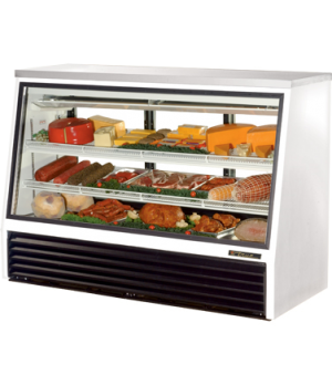 Single Duty Deli Case, see-thru, stainless steel top, Low-E glass front & (3) re