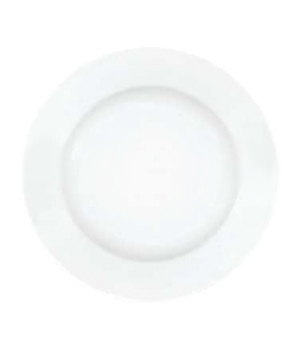 "Plate, 11-3/8"", flat, premium porcelain, Millenia Bianca"