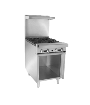 "Diamond Series Heavy Duty Range, gas, 24"", Add-A-Unit, (2) hot tops, open cabine"