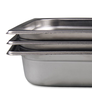 "Stack-A-Wayâ""¢ Steam Table Pan, 2/3 size, 10.1 qt., 13-7/8""L x 12-3/4""W x 4"" dee"