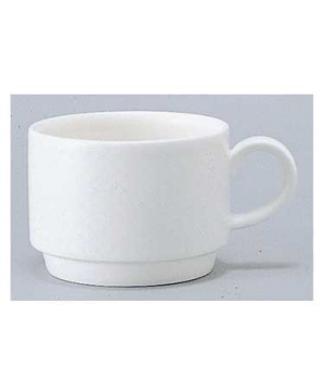 Cup #2, 7-1/2 oz., stackable, premium porcelain, Easy White