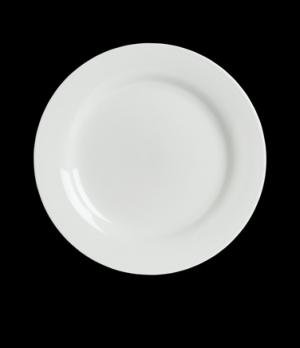 "Dinner Plate, 10-5/8"" dia., round, wide rim, porcelain, Rene Ozorio Concerto (Ca"
