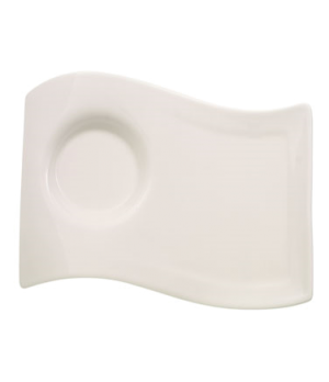 "Caffe Party Plate, 7"" x 5-1/2"", rectangular, medium, narrow rim, free form, dish"