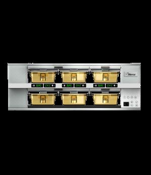 MercoMax™ Heated Holding Cabinet, electric, countertop, pass-thru design, (2) sh