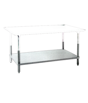 "(21612) Undershelf, 72""W x 24""D, stainless steel, for work table 19140, NSF"