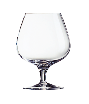 "Brandy Glass, 8-1/4 oz., glass, Luminarc, Degustation, (H 4-3/8""; M 3-1/8"")"
