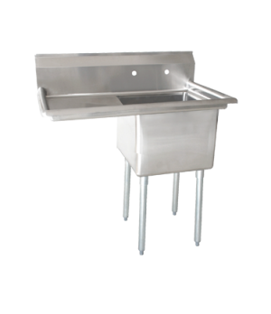 "(25263) Pot Sink, (1) 21"" front to back x 18"" wide x 14"" deep bowls, corner drains"