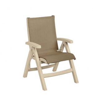 Belize Midback Folding Chair, stackable, designed for outdoor use, sling, sandst