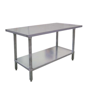"(26045) Work Table, 84""W x 30""D x 35-3/4""H, 20/430 stainless steel flat top, 20/"