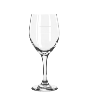 "Wine Glass, 14 oz., tall, 8-1/4"" H, stem, with pour lines, Safedge® Rim & Foot G"