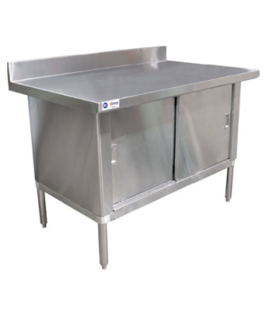 "(24404) Work Table, cabinet base with sliding doors, 60""W x 30""D x 38""H, 18/430"