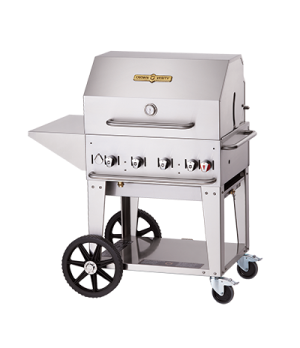 "Outdoor Charbroiler, Natural gas, 28""x21"" grill area, 4 burners, stainless steel"
