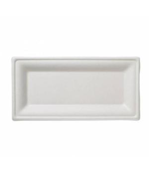 "Disposable Plate, 9-6/7"" x 5-1/9"" (25 x 13 cm), rectangular, biodegradable/compo"