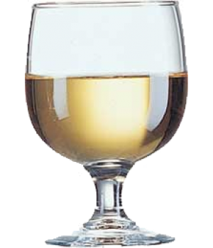 Goblet Glass, 6-1/2 oz., stackable, fully tempered, glass, Arcoroc, Amelia (H 4-