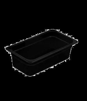 "H-Pan™, 1/3 size, 2-1/2"" deep, hi-temp plastic, polysulfone, non-stick surface,"