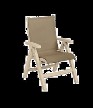 Belize Midback Folding Chair, stackable, designed for outdoor use, sling, sandst