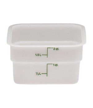 "CamSquare® Food Container, 2 quart, 7-1/4"" x 7-1/4"" x 3-7/8"", natural white, gre"