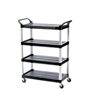 "Xtra™ Utility Cart, four shelves, 20""W x 40-5/8""D x 51""H, 300 lb. total capacity"