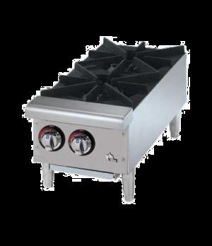 "QUIK-SHIP Star-Max® Hotplate, countertop, gas, 12"" wide, (2) 25,000 BTU burners,"