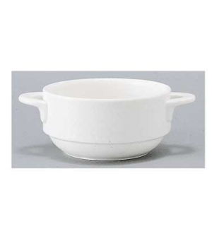 Soup Cup, 9-1/4 oz., stackable, premium porcelain, Easy White