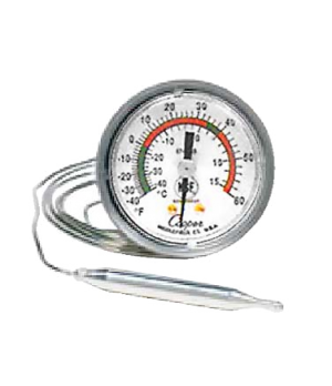 "Thermometer, 2"" panel type, U-bracket, -40 to 60°F/10°C to 115°C temperature ran"