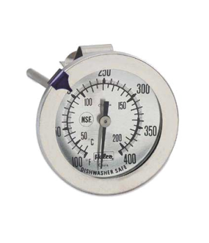 "Candy/Jelly/Deep Fry Thermometer, 2-1/4"" dial, 6-1/4""L, temperature range 100°"