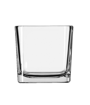 "Voltive/Candle Holder, 14 oz., cube, glass, clear (H 3-3/8""; T 3-1/2""; B 3-1/8"";"