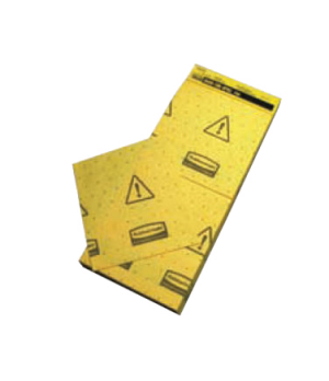 "Over-the-Spill™ Mini Pad Tablet, multi-lingual, ""caution wet floor"", 16-1/2"" x 7"
