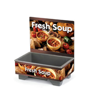Cayenne® 72020 Full Size Rethermalizing Model 1220 Soup Merchandiser with Countr
