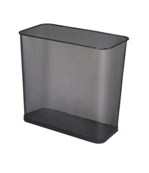 """Concept Collection™ Steel Wastebasket, 7-1/2 gallon, 8-1/2"""" L x 16"""" W x 14"""" H, o"""