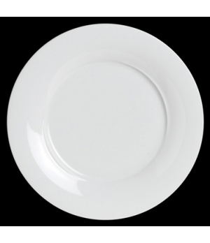 "Plate, 12-1/4"" dia., wide rim, flat, porcelain, Crucial Detail (priced per case,"