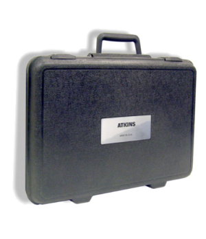 "Hard Carry Case with Label, 12"" x 17"" x 3-1/2"" (Atkins)"