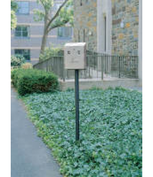 Smokers' Station® Wall Mount In Ground Pole with Hardware, for R1012